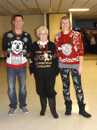 and the winners of the ugly sweater contest are?