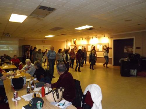 "Line dancers at our ""Friday Night Dance Party"""