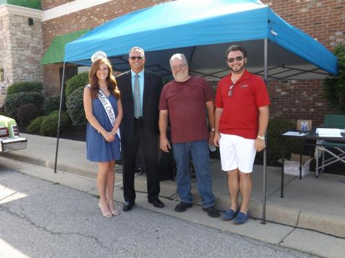 Miss Ontario, Ontario Mayor Randy Hutchinson, JR the DJ and Matt Young enjoying the Richland County Law Enforcement Appreciation Day