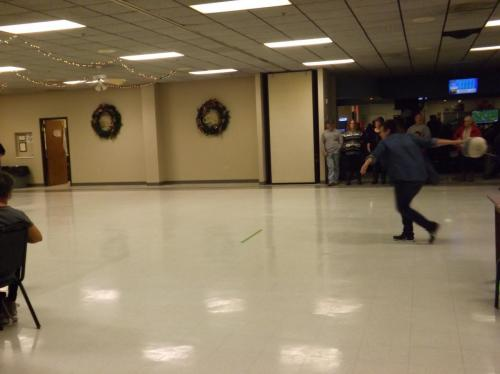 Turkey bowling takes lots of practice!